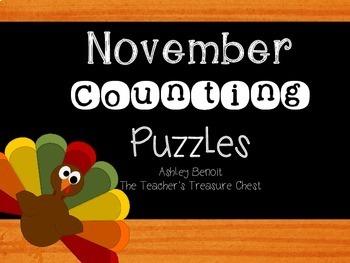 November Skip Counting Puzzles