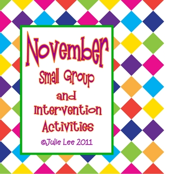 November Small Group Intervention Pack
