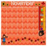 November Smartboard Calendar Template