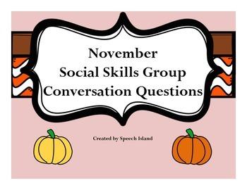 November Social Skills Conversation Questions