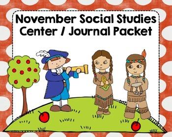 November Social Studies Center and Journal Packet