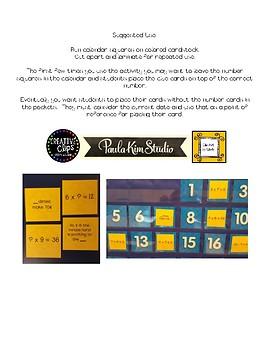 November Solve-for-the Dates Math Calendar