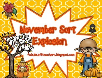 November Sort Explosion!