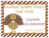 November Spanish Fluency Task Cards