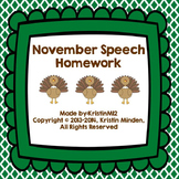 November Speech Homework