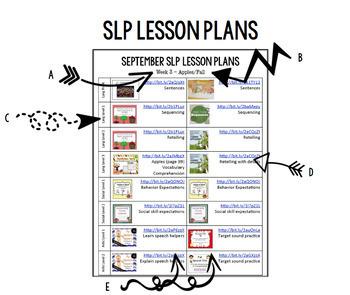 November Speech Lesson Plans (FREE)