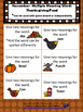 November Speech Theme - Multiple Meaning words
