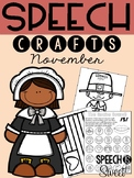 November: Speech Therapy Crafts