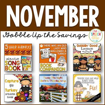 November: Speech and Language Therapy Bundle