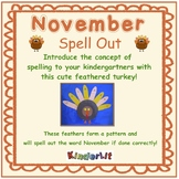Months of the Year - November Spell Out