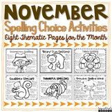 Spelling Activities for Any List of Words - November