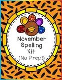 November Spelling Kit (No Prep!)