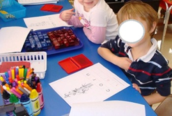 November Stamp a Word and Write the Room Centers