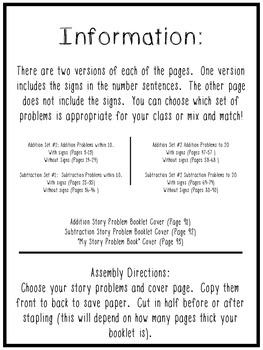 November Story Problem Printable Books
