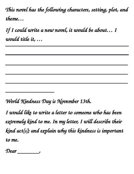 November Story Starters: Writing Ideas for Bell Work/Daily Journal Writing