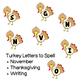 November Student Created Bulletin Board Materials (Turkey Themed)