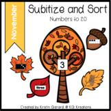 November Subitize and Sort
