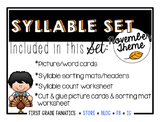 November Syllable Set