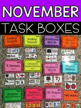 November Task Boxes