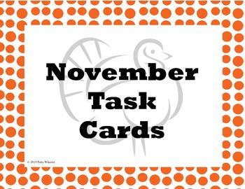 November Task Cards