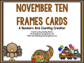 November Ten Frame Cards!