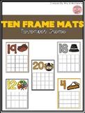 November Ten Frame Mats 1-20