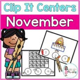 November Tens Frame Clip It Centers