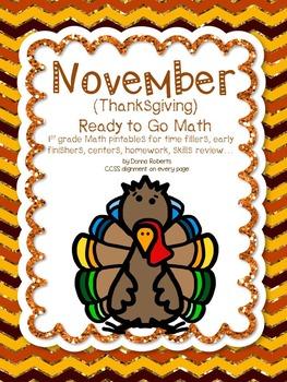 November (Thanksgiving) 1st grade Ready to Go Math
