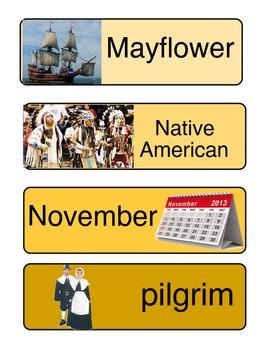 November Thanksgiving ABC Order