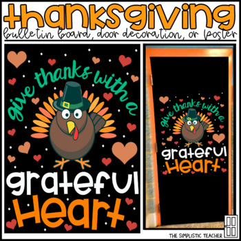 November/Thanksgiving Bulletin Board, Door Decor, or Poster
