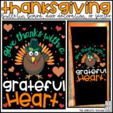 Thanksgiving November Bulletin Board, Door Decor, or Poster