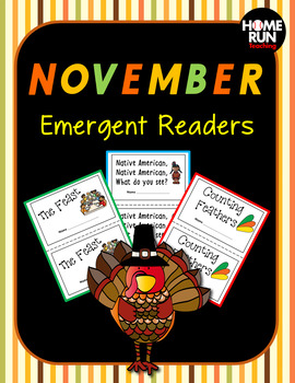 November/Thanksgiving Emergent Readers