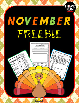 November/Thanksgiving FREEBIE!!! Reading comprehension, wr