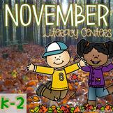 November - Thanksgiving - Literacy Centers