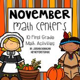 November / Thanksgiving Math Centers