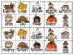 November / Thanksgiving Math Fact and Sight Word Flash Cards {Editable!}