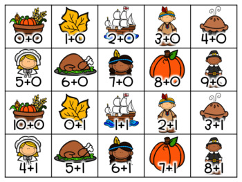 November / Thanksgiving Math Fact and Sight Word Flash Cards {Editable!}