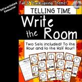November/Thanksgiving Math: Telling Time Write the Room