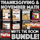 November/Thanksgiving Math: Write the Room BUNDLE!