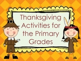 November ~ Thanksgiving Math and Literacy Activities for the Primary Grades