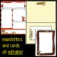 November/Thanksgiving Newsletter Templates ~ Editable
