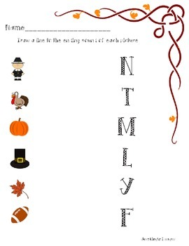 November/Thanksgiving PACKAGE printables! patterns,ending sound,counting,writing