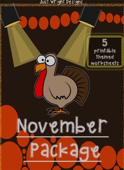 November/Thanksgiving PACKAGE printables! patterns,ending
