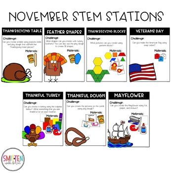 November Thanksgiving STEM Activities