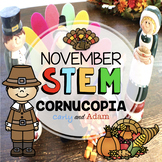 Candy Corn Cornucopia Thanksgiving STEM Activity with Distance Learning