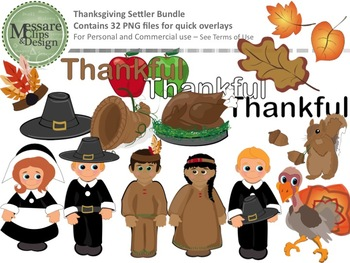 November Thanksgiving Settler Bundle {Messare Clips and Design}