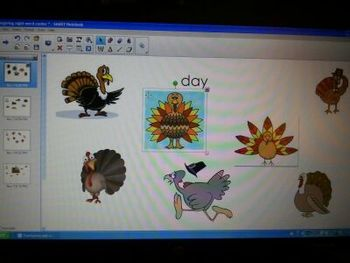 November Thanksgiving SmartBoard Sight Word Center