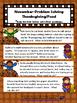 November/Thanksgiving Speech Theme - Problem Solving and W