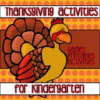 Winner Winner Turkey Dinner !!! Centers/Games/Printables
