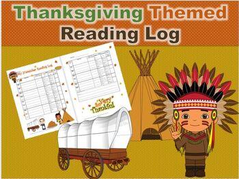 November/Thanksgiving Themed Reading Log / Reinforces Genres & Literary Elements